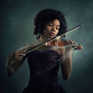 black violinist